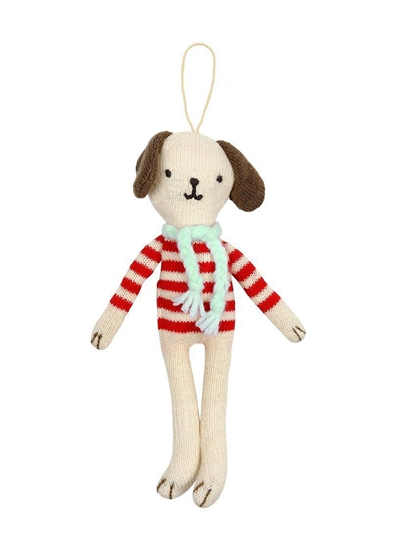 Meri Meri Stripy Dog Tree Decoration